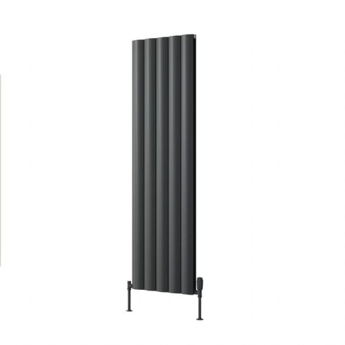 Reina Belva Double Horizontal Designer Radiator - 600mm High x 412mm Wide - Anthracite